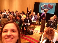 Selfie before session - note photobomber