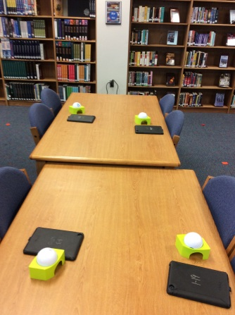 Spheros and iPads paired