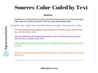 Color Coded Googledoc 2