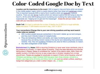 Color Coded Googledoc1