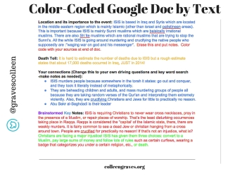 Color Coded Googledoc1